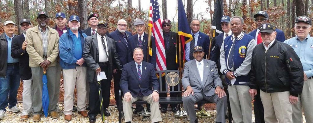 Airborne Brigade donates bench to Ft. Jackson National Cemetery